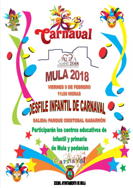 Friday 9th February Mula: Children's carnival parade