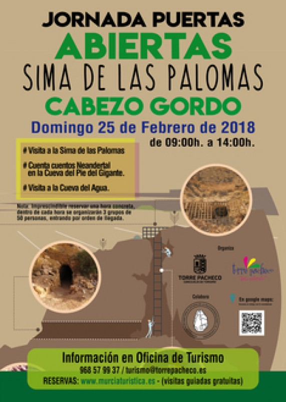 25th February: Four guided visits to the Sima de las Palomas at the Cabezo Gordo in Torre Pacheco