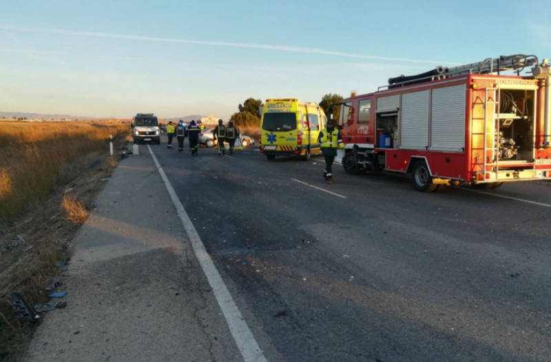 Two dead and nine injured in head-on collision in Torre Pacheco