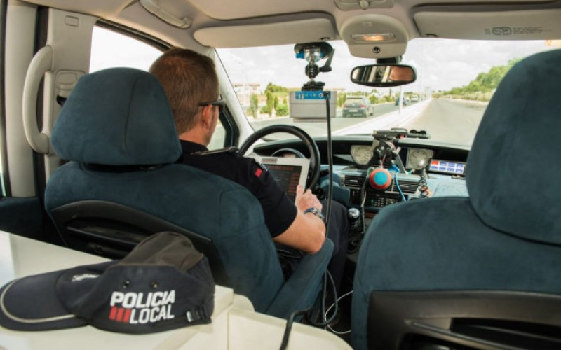 Cartagena police mobile speed trap locations 22nd to 28th January