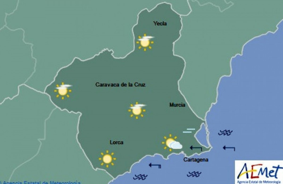 Over 25 degrees again in Murcia and San Javier as the January heatwave continues!