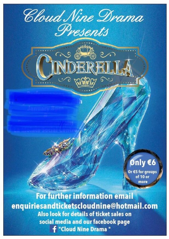 22nd to 24th March Cloud Nine Drama pantomime: Cinderella