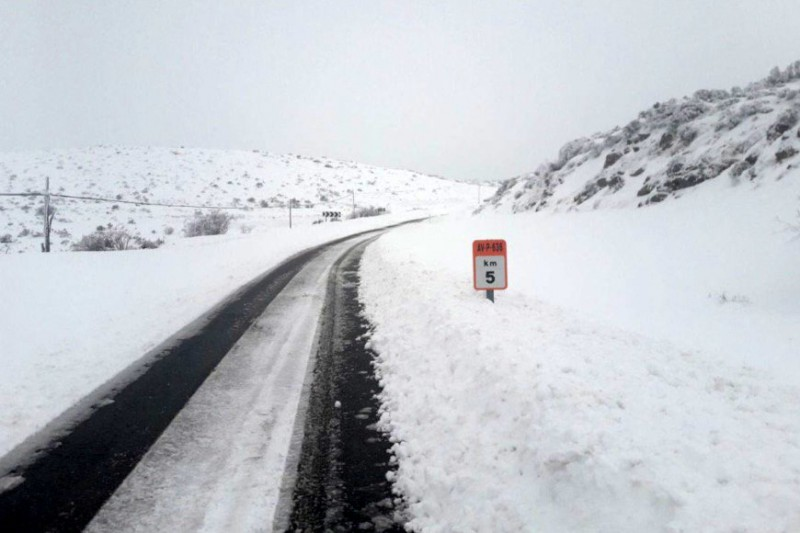 Snow at sea level in northern Spain as the temperature hits minus 10 inland