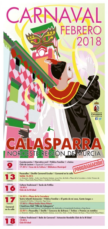 9th to 17th February Carnival in Calasparra