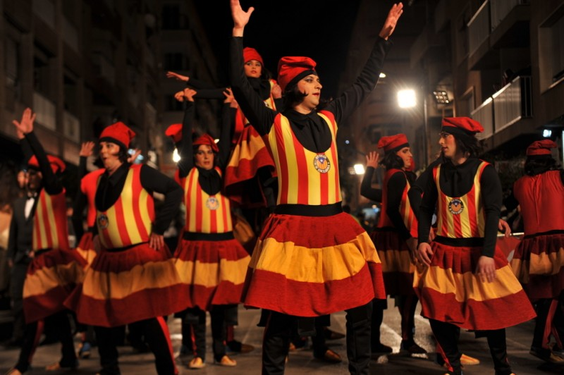 Former Catalan president takes centre stage in Carnival parades