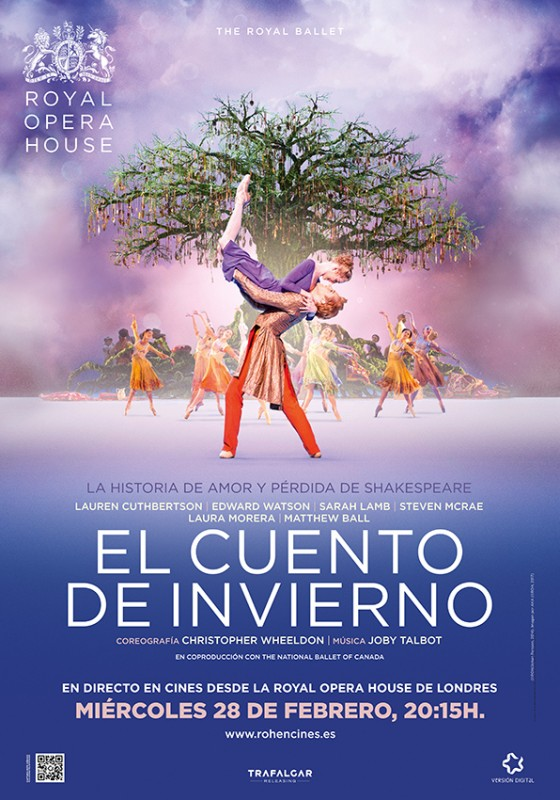 28th February Ballet from the Royal Opera House, The Winter's Tale at the Parque Almenara Lorca