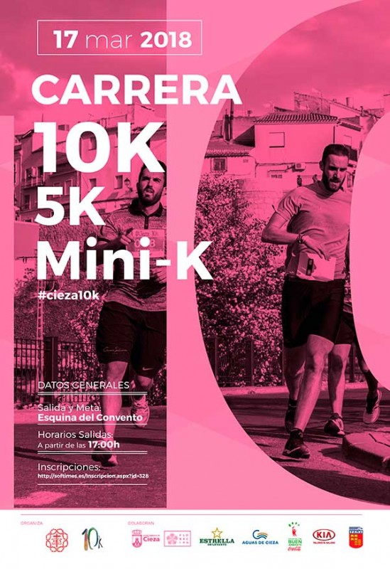17th March 5 and 10km races in Cieza
