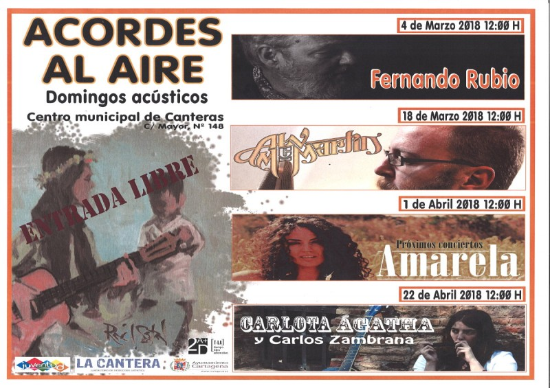 <span style='color:#780948'>ARCHIVED</span> - 18th March free concert in Canteras, Cartagena with Alv McMartin