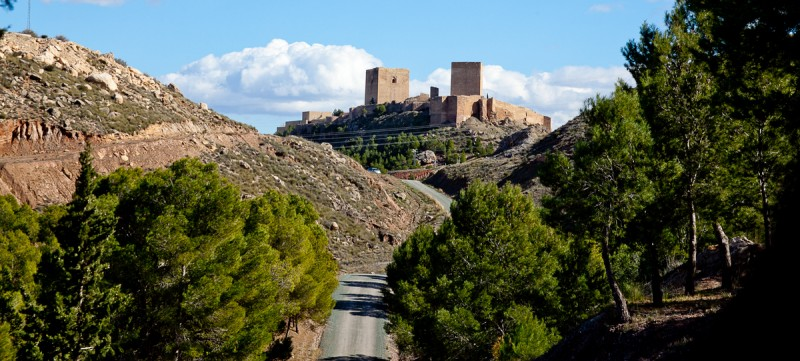 Visiting Lorca castle during March 2018