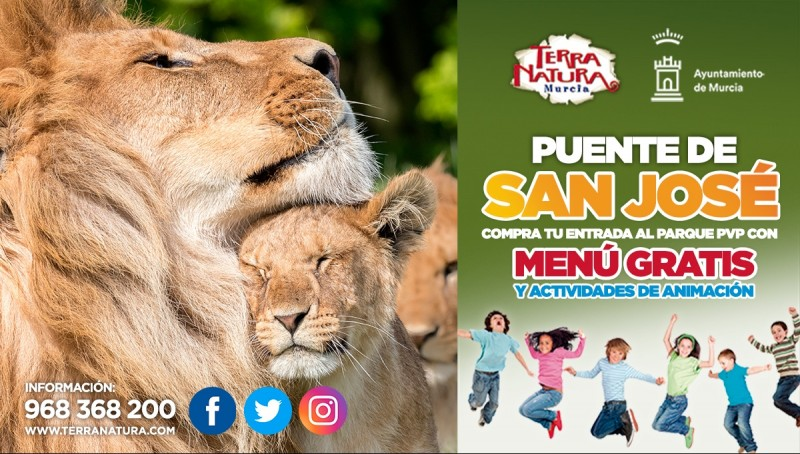 17th March, Women's Day family fun run and other events at Terra Natura Murcia wildlife park