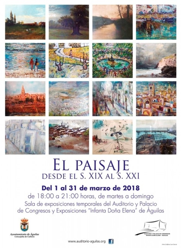 1st to 31st March temporary art exhibition at the Auditorio Infanta Elena in Águilas