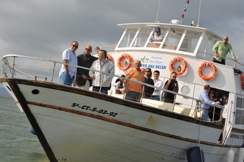 12th May free boat trip on the Mar Menor (Spanish commentary)