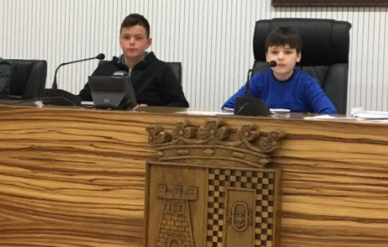 Children in charge at the Town Hall of Torre Pacheco
