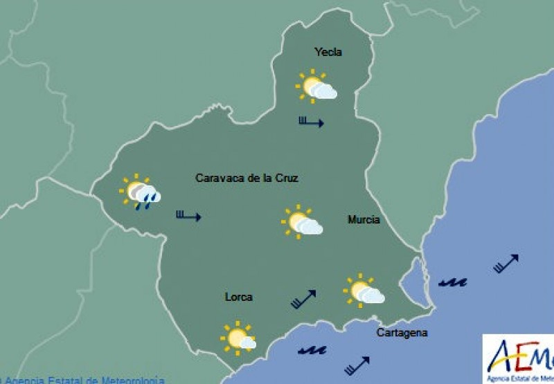 Murcia was the warmest place in mainland Spain on Friday!