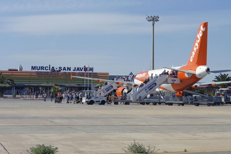 Passenger numbers up at San Javier airport for the 17th month in a row