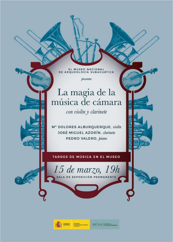 <span style='color:#780948'>ARCHIVED</span> - Thursday 15th March: Free chamber music in the ARQUA museum Cartagena