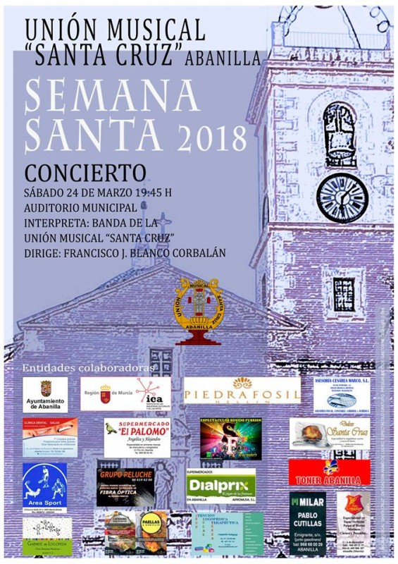 <span style='color:#780948'>ARCHIVED</span> - 24th March Abanilla: Semana Santa concert