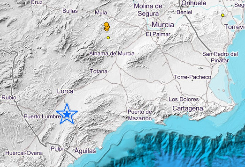 Earthquake measuring 2.7 on the Richter scale close to Lorca
