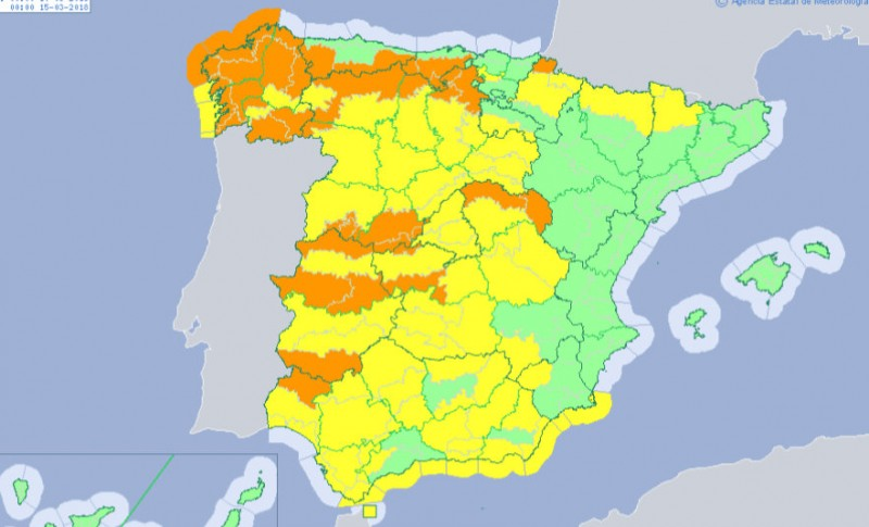 Yellow alerts for wind and high waves on the Costa Cálida this Wednesday