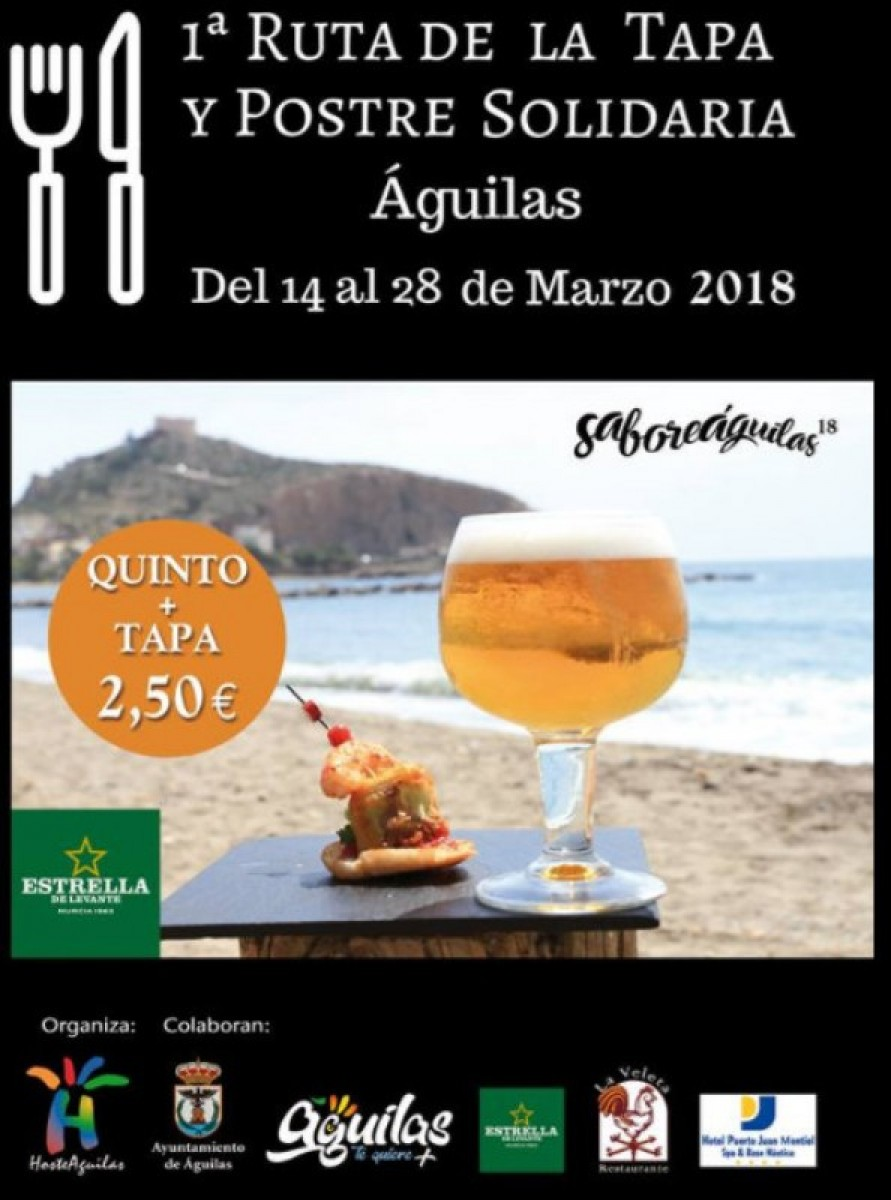 14th to 28th March, charity tapas and desserts route in Águilas