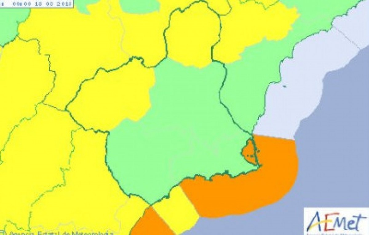 Weather warnings issued in Murcia for the long holiday weekend