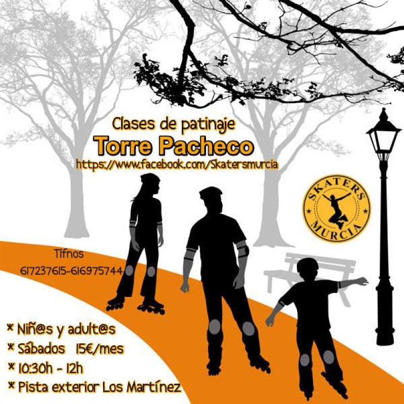 Learn to skate in Torre Pacheco on Saturdays