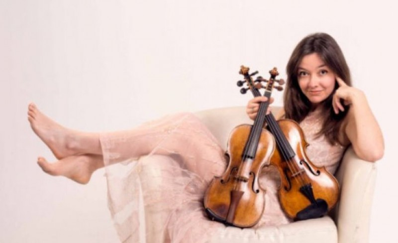 30th April, Violinist Lina Tur performs music by Vivaldi at the Auditorio Víctor Villegas in Murcia
