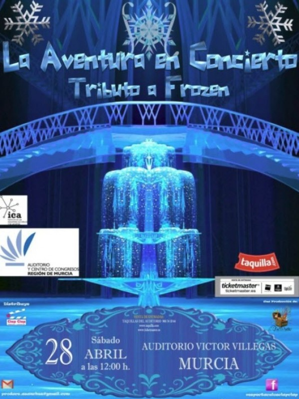 28th April musical tribute to Frozen at the Auditorio Víctor Villegas in Murcia
