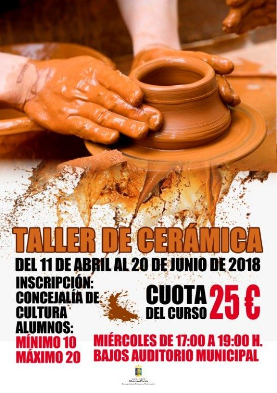 11th April to 20th June Ceramic making workshop in Alhama de Murcia