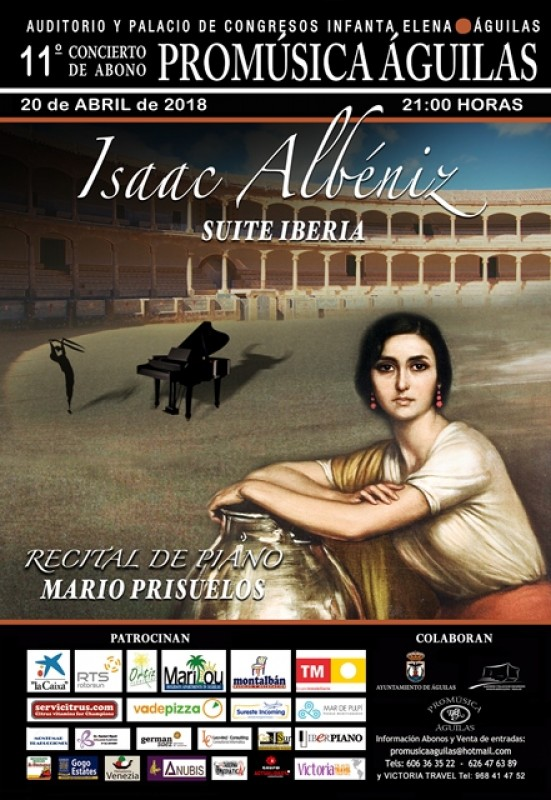 20th April piano recital in the Águilas Auditorio Infanta Elena