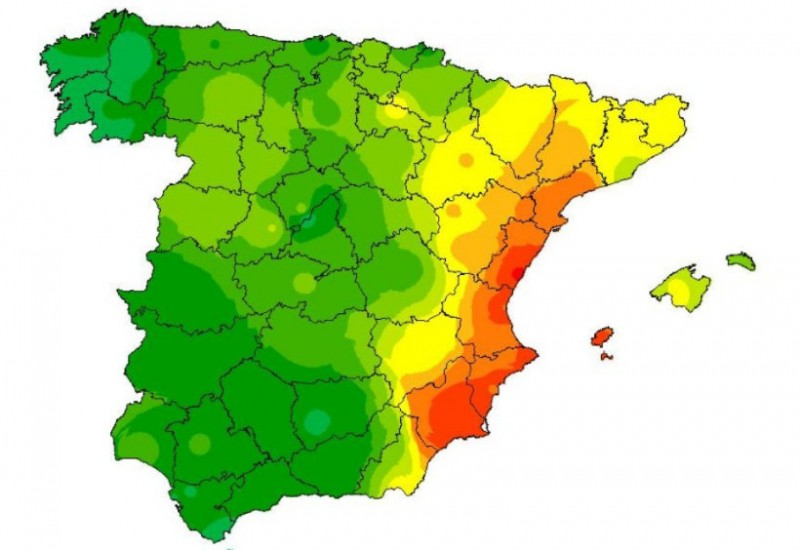 Why the rain in Spain stays mainly in the plain