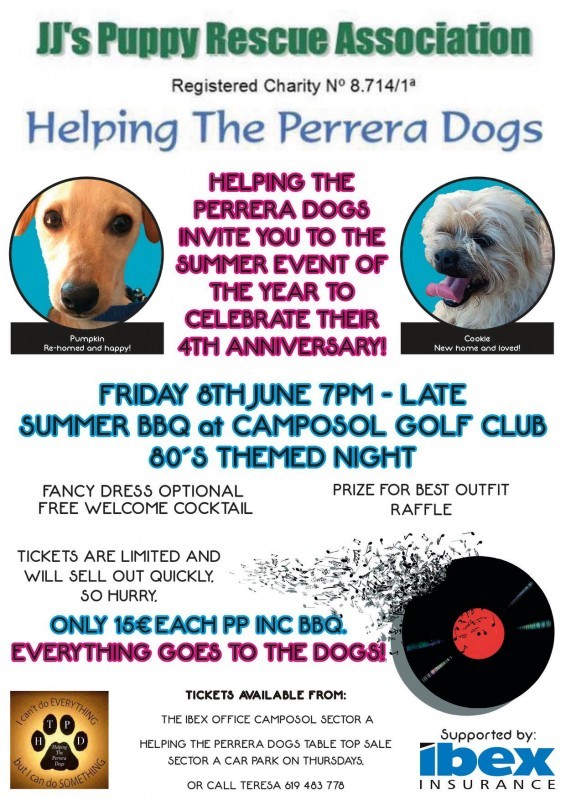 8th June JJs Puppy Rescue Charity fundraiser Camposol