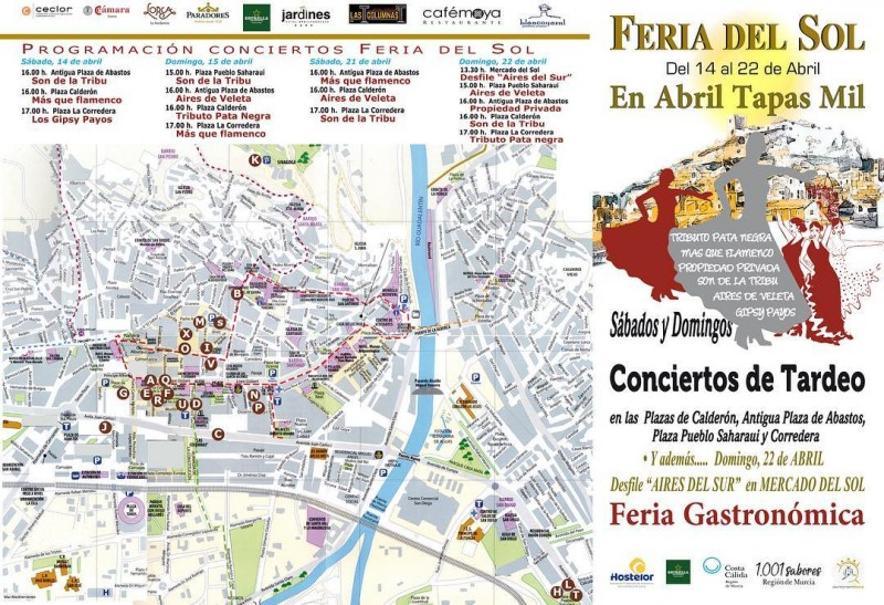 14th to 22nd April, Tapas route and live music in the city of Lorca