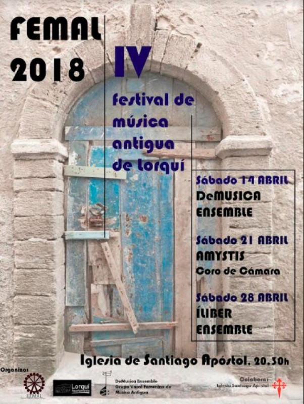 21st and 28th April, free ancient music concerts in the church of Lorquí