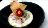 White bream ceviche, a combination of the culinary traditions of Murcia and Peru