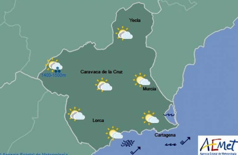 Spring weather begins to settle in the Costa Cálida on Friday
