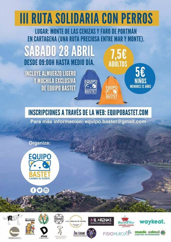 <span style='color:#780948'>ARCHIVED</span> - 28th April solidarity dog walk Monte de las Cenizas and Portmán