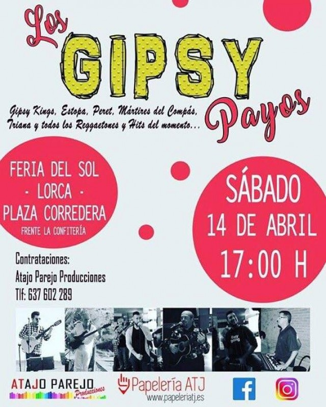 21st and 22nd April Free live music in Lorca to accompany spring tapas route