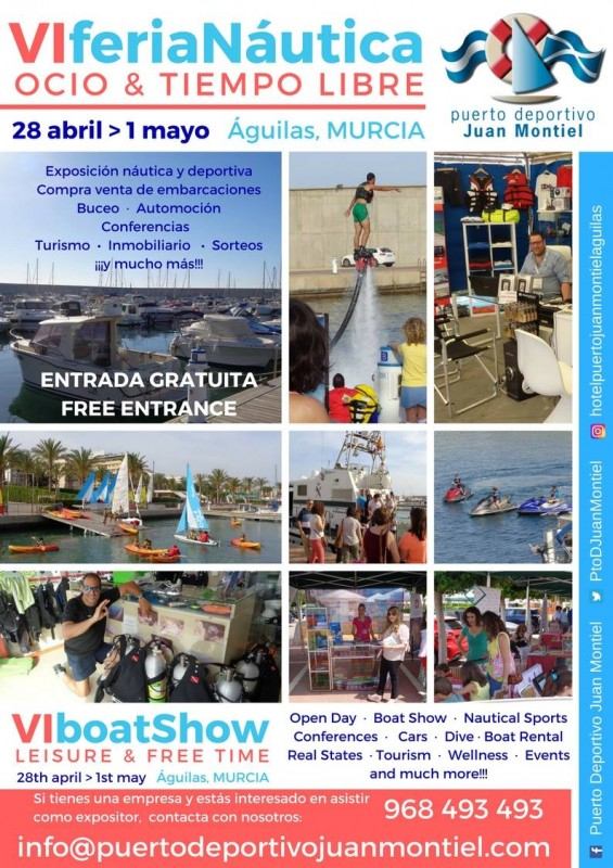 28th April to 1st May nautical and leisure fair in Águilas