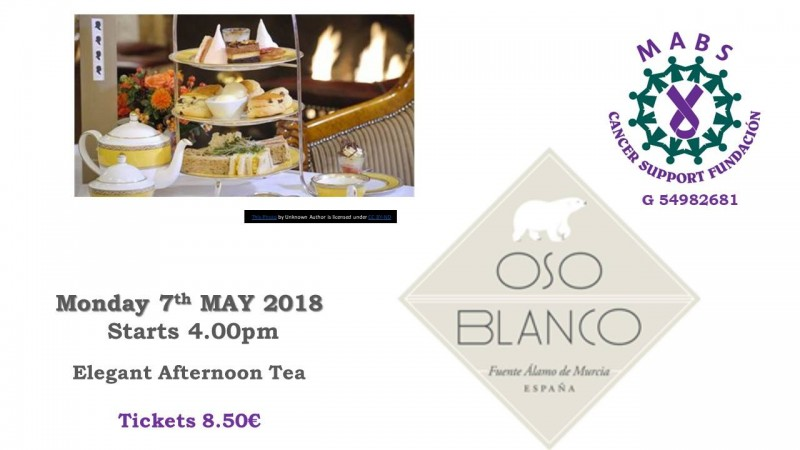 7th May Afternoon Tea at OSO Blanco Fuente Álamo for MABS