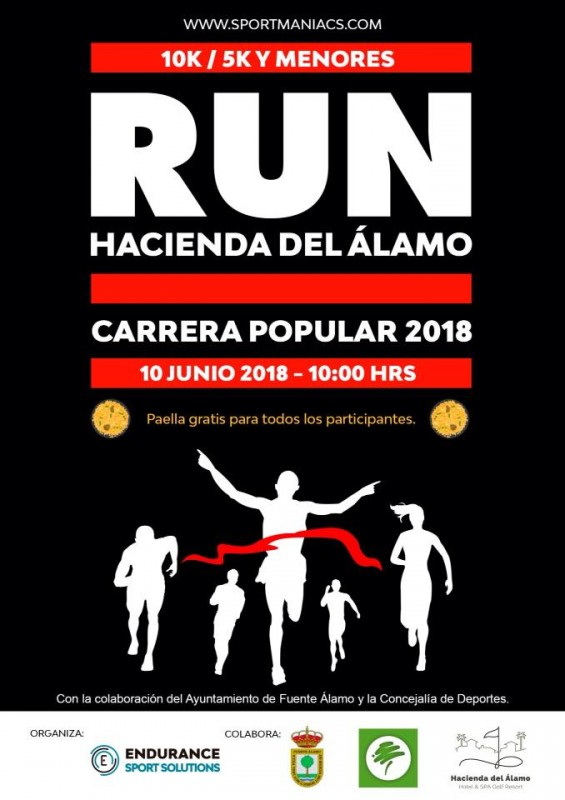 10th June 10km adult race and 5km junior race Hacienda del Álamo