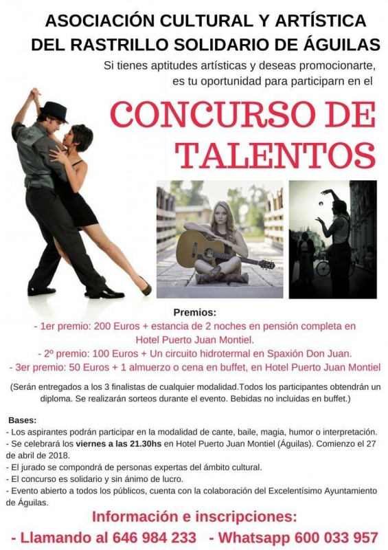 Friday 25th May: talent competition in Águilas