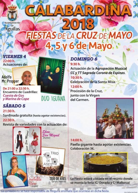 What's on in Águilas during May 2018