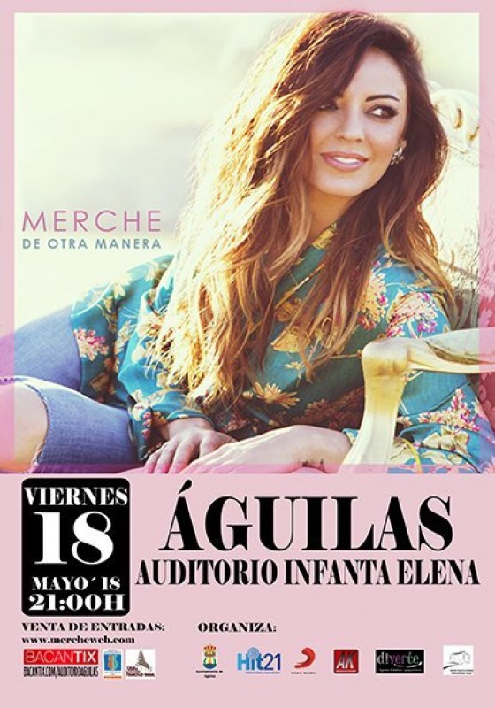 18th May Top pop artist Merche in Águilas