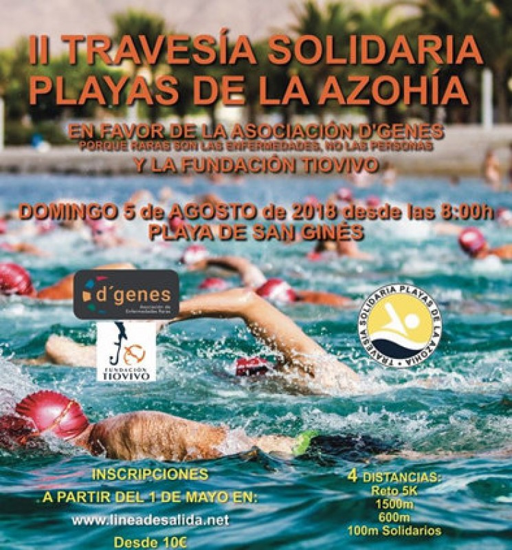 5th August, Playas de La Azohía solidarity swimming races
