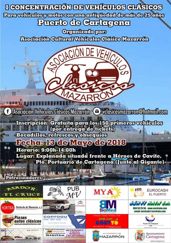 <span style='color:#780948'>ARCHIVED</span> - 13th May Classic vehicle rally in Cartagena