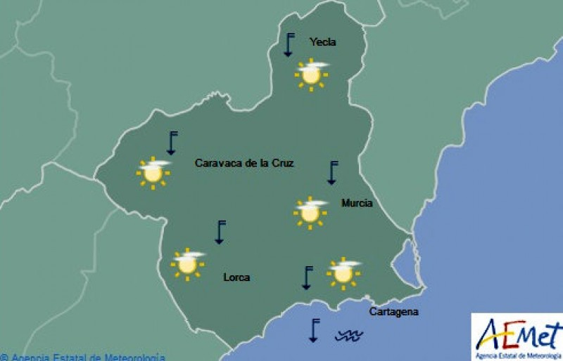 A warm and sunny weekend ahead in the Costa Cálida
