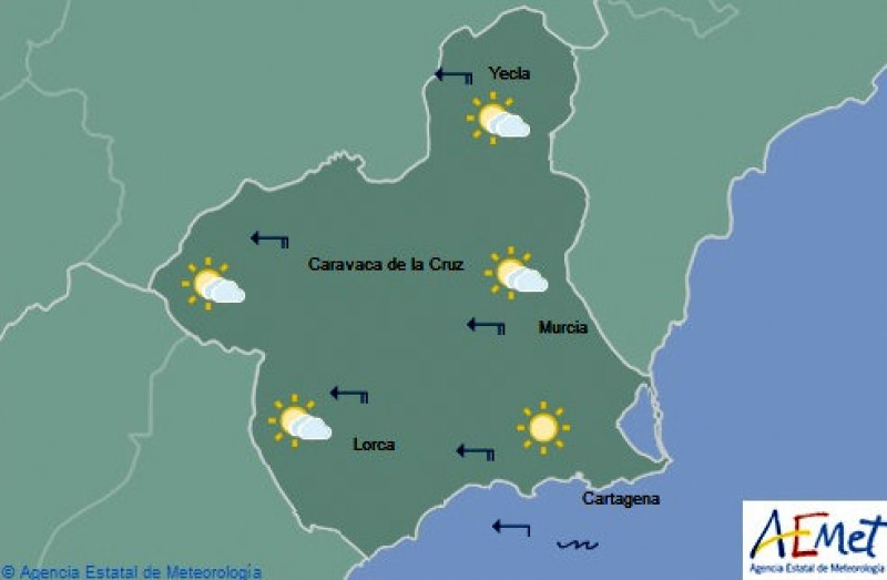 Set fair for another warm week in the Costa Cálida