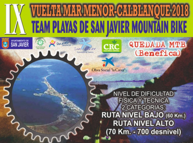 17th June, San Javier to La Manga mountain bike race passing through Calblanque