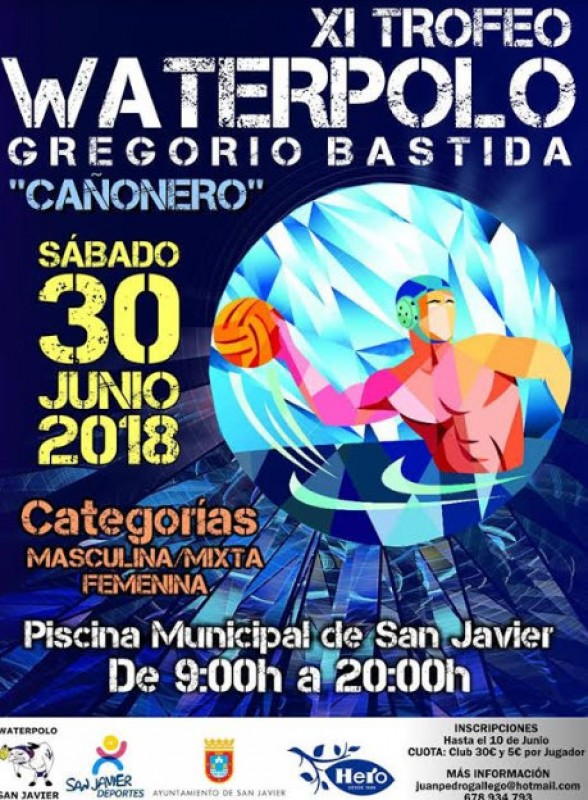 30th June, annual water polo tournament in San Javier